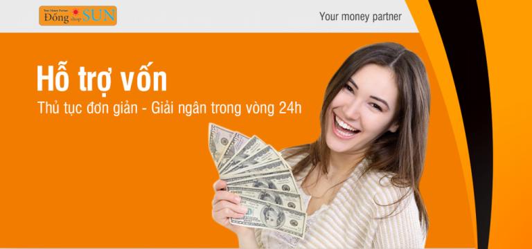 Đồng Shop Sun – Nơi hỗ trợ vay theo cavet xe, vay theo hóa đơn mua điện thoại, lãi suất chỉ 0.85%